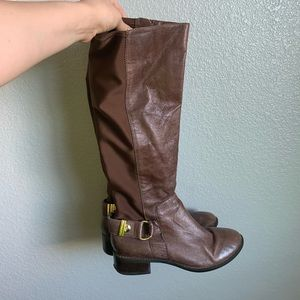 Shoes - Brown leather riding boots size 7